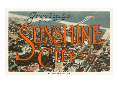 Greetings from Sunshine City, St. Petersburg, Florida--Art Print