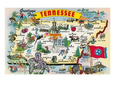 Greetings from Tennessee--Art Print