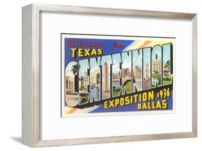 Greetings from Texas Centennial, 1936