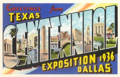 Greetings from Texas Centennial, 1936
