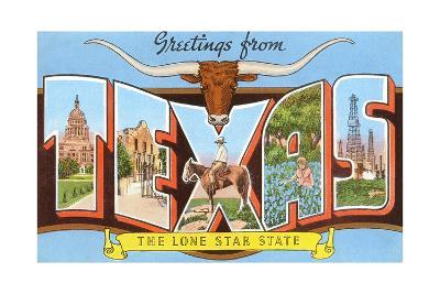 Greetings from Texas, the Lone Star State--Giclee Print