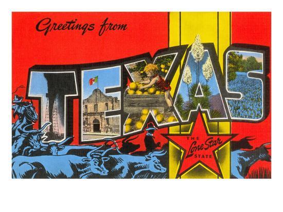 Greetings from Texas--Art Print