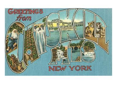 Greetings from the Catskill Mountains, New York--Art Print