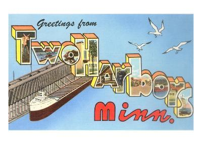 Greetings from Two Harbors, Minnesota--Art Print