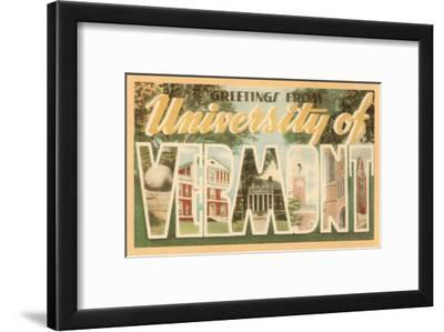 Greetings from University of Vermont