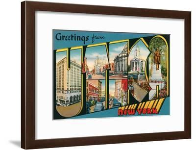 Greetings from Utica, New York--Framed Art Print