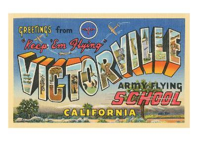 Greetings from Victorville, California--Art Print