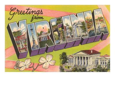 Greetings from Virginia--Art Print