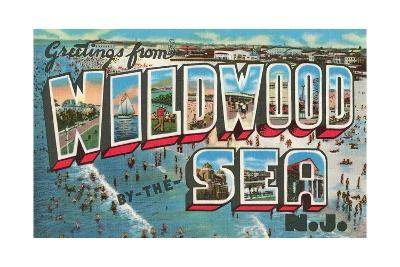 Greetings from Wildwood-By-The-Sea, New Jersey--Giclee Print