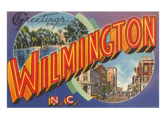 Greetings from Wilmington, North Carolina--Art Print