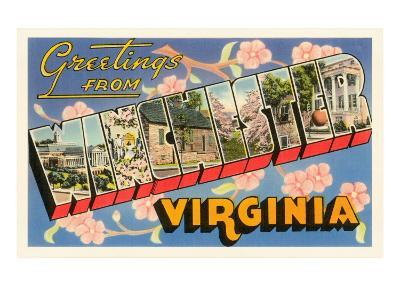 Greetings from Winchester, Virginia--Art Print