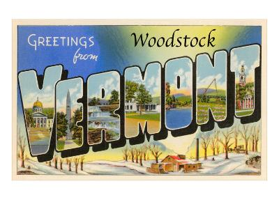 Greetings from Woodstock, Vermont--Art Print