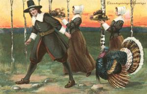 Greetings, Pilgrims Carrying Food