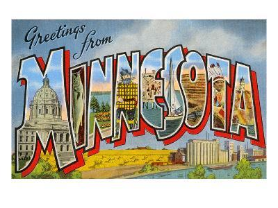 Greetingsfrom Minnesota--Art Print