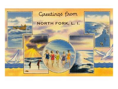 Greetngs from North Fork, Long Island--Art Print