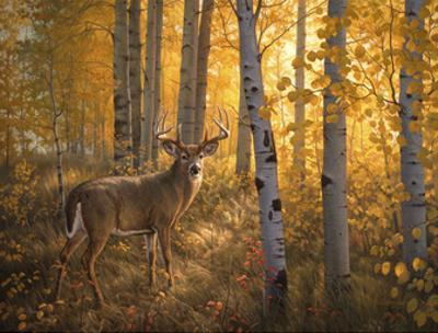 Whitetail in Aspens by Greg Alexander