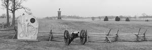 Cannons and Fence at Gettysburg Battlefield by Greg