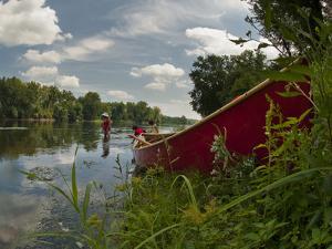 Canoe Along the Shore of the Potomac River by Greg