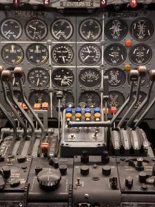 Cockpit and Engine Controls of a Boeing 707 by Greg