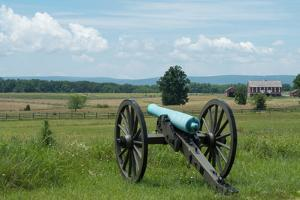 A Civil War Cannon at Gettysburg Battlefield by Greg Dale