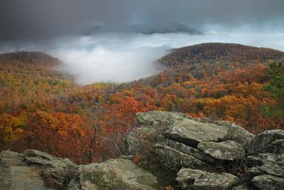 Fall Colors from Bearfence Mountain's Rocky Peak