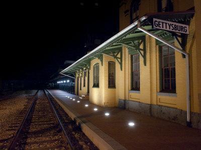 Gettysburg Train Station at Night