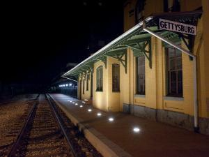 Gettysburg Train Station at Night by Greg Dale
