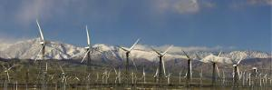 Panorama of Windmills at San Gorgonia Pass in Palms Springs by Greg Dale