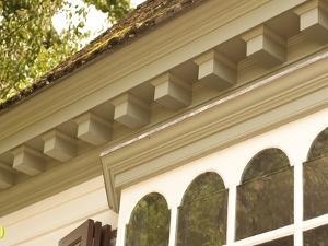 Dentil Molding on Roof Edge of Historic Colonial Williamsburg House by Greg