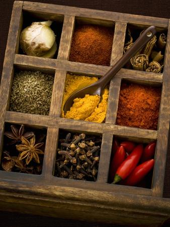 Assorted Spices in Type Case