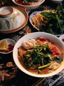 Bowl of Beef with Rice Noodles., Vietnam by Greg Elms