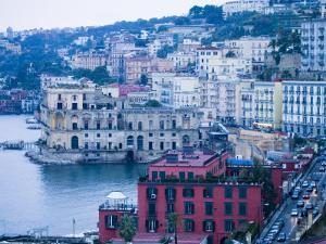 Buildings along Waterfront, Posilipo, Naples, Campania, Italy by Greg Elms