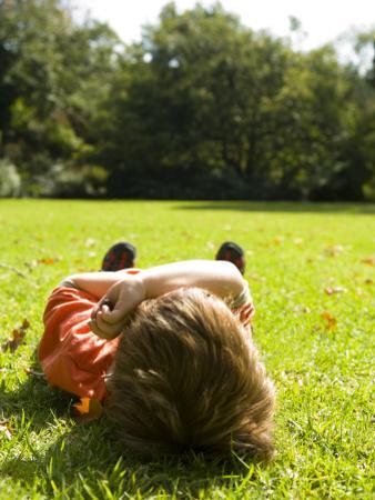 Child Relaxing in Royal Botanic Gardens