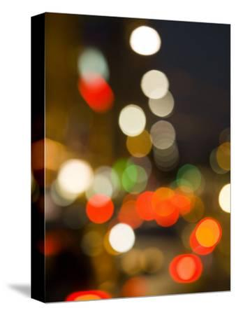 City Lights and Car Headlights at Night.