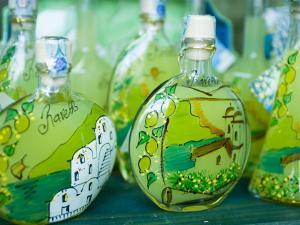Decorated Limoncello Bottles by Greg Elms