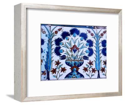 Decorative Tiles in Topkapi Palace, Istanbul, Turkey