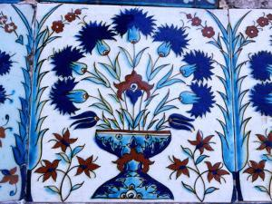 Decorative Tiles in Topkapi Palace, Istanbul, Turkey by Greg Elms