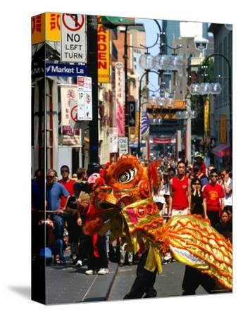 Dragon Dance During Chinese New Year, Chinatown, Melbourne, Victoria, Australia