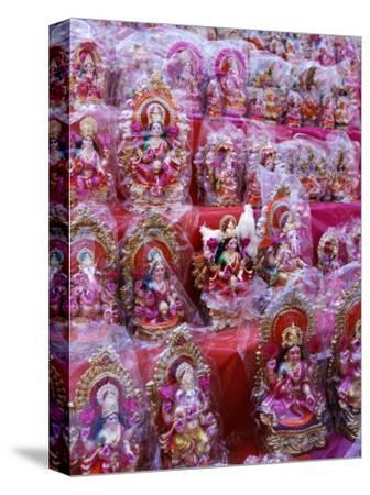 Figurines of Hindu Gods Ganesh and Laxshmi, Sold as Part of the Diwali Festival, Varanasi, India