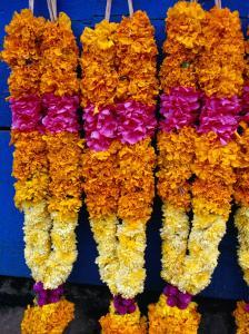 Floral Garland, Tamil Nadu, India by Greg Elms