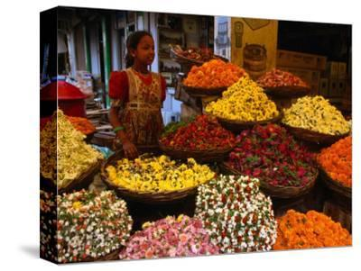 Flower Seller at the New Market., Kolkata, West Bengal, India
