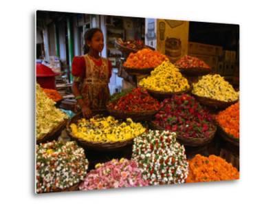 Flower Seller at the New Market., Kolkata, West Bengal, India