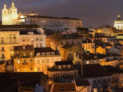 Overlooking Alfama from Largo Portas Do Sol, Lisbon, Portugal