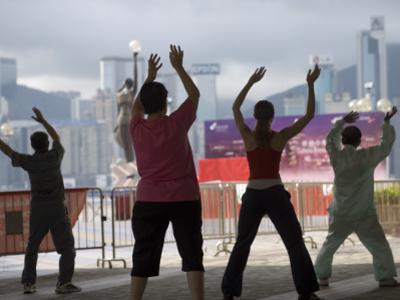People Doing their Morning Tai Chi, Tsim Sha Tsui