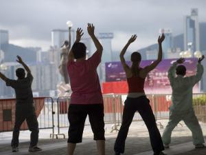 People Doing their Morning Tai Chi, Tsim Sha Tsui by Greg Elms