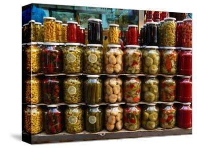 Preserves in Jars Stacked on Shelf, Istanbul, Turkey
