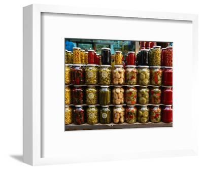 Preserves in Jars Stacked on Shelf, Istanbul, Turkey