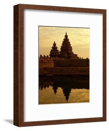 Shore Temples Reflected in Pond, Mamallapuram, Tamil Nadu, India