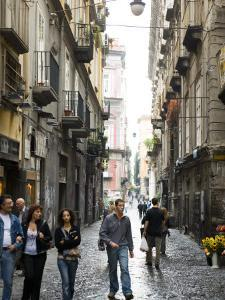Street in Centro Storico, Naples, Campania, Italy by Greg Elms