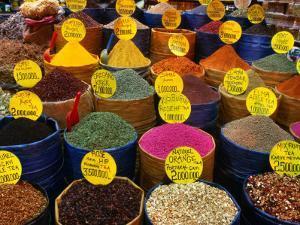 Teas and Spices at Spice Bazaar, Istanbul, Turkey by Greg Elms